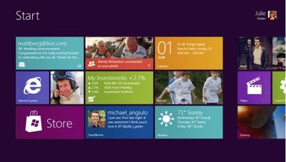 Microsoft muestra un adelanto de su Windows 8