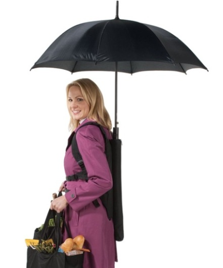 Umbrella Bag: Mochila con Paraguas retráctil