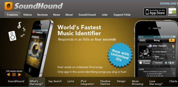 Soundhound para iPhone: Canta una canción y esta aplicación te lo busca
