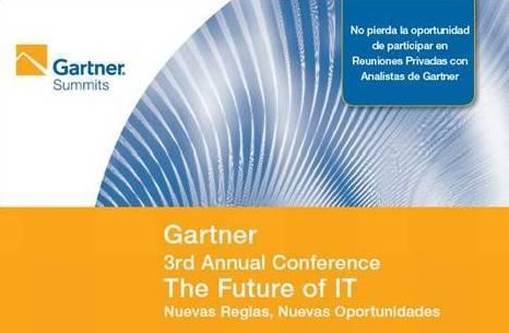 """Gartner, líder en consultoría tecnológica realizará en Lima la Tercera Conferencia Anual """"The Future of IT"""""""