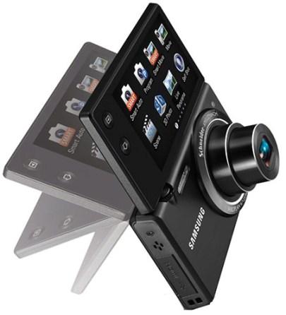 Samsung MultiView MV800, cámara digital con pantalla táctil y giratoria