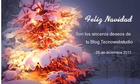 ¡Tecnowebstudio les desea una Feliz Navidad!
