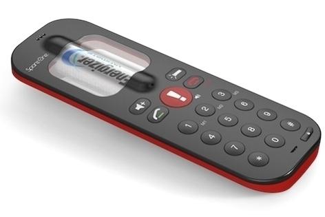 SpareOne: Teléfono móvil que funciona con una pila AA hasta por 15 años