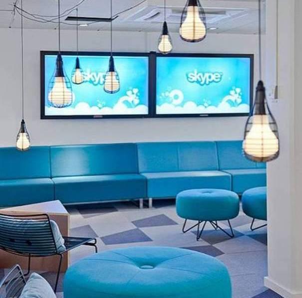 Las Modernas oficinas de Skype en Estocolmo, Suecia