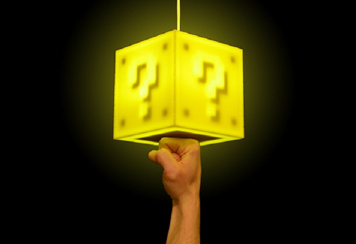 Lámpara al estilo Mario Bros para los más fanáticos