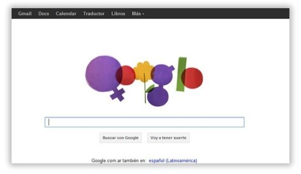Google rinde homenaje por el Día Internacional de la Mujer con sugestivo doodle