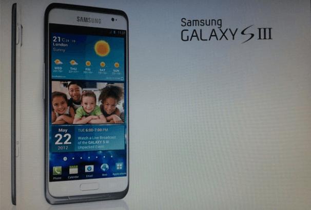 Samsung Galaxy III se muestra en una reciente diapositiva filtrada (por confirmar)