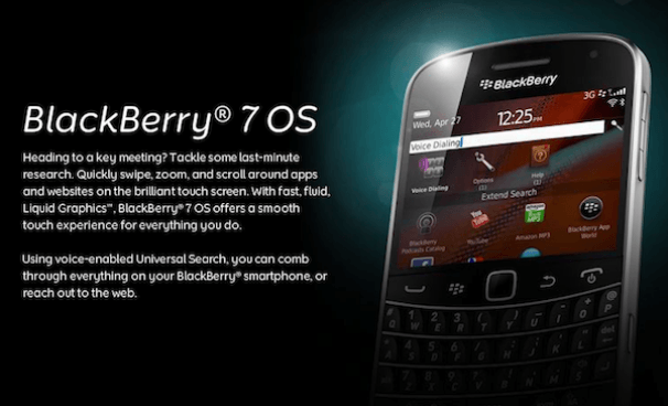 Sistema operativo BlackBerry OS 7, considerado como el más seguro para empresas