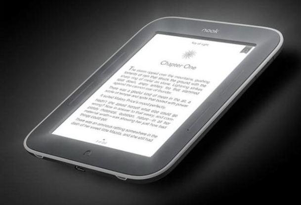 Barnes & Noble presenta un Nook con pantalla brillante para leer en la oscuridad