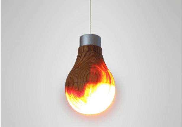 La bombilla de madera que funciona de maravilla