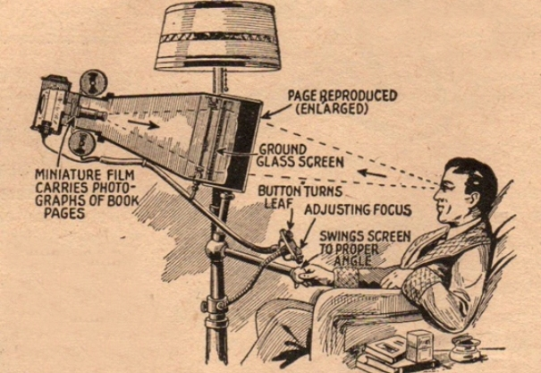 eBook; el antecesor del primer lector de libros digitales data de 1935