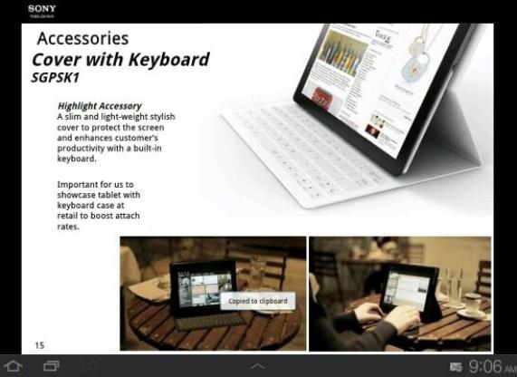 Sony Xperia Tablet, se dejan ver algunos detalles e imágenes