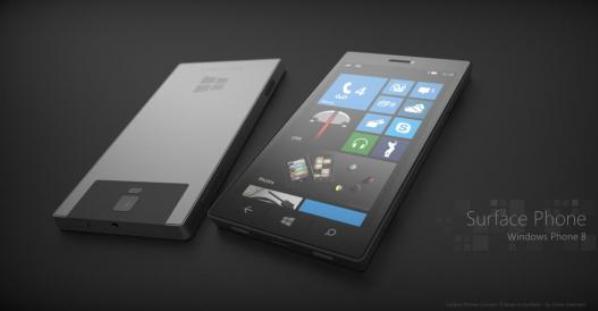 Concepto del futuro smartphone Microsoft Surface