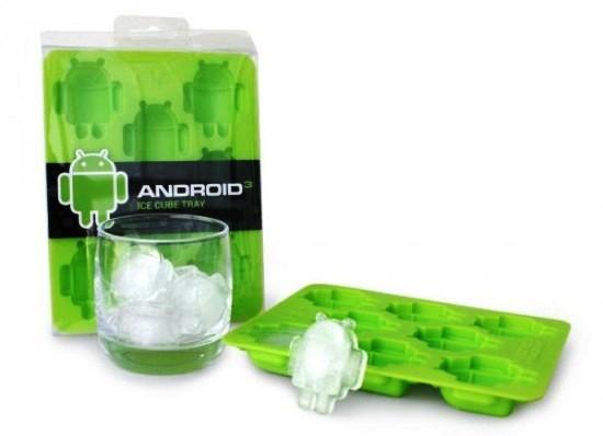 Bandeja para hacer cubos de hielo con la forma del robot de Android