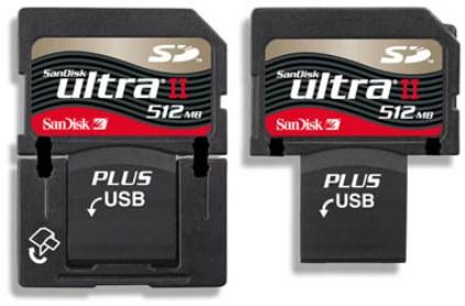 SanDisk Ultra II SD Plus, tarjeta de memoria con conector USB integrado