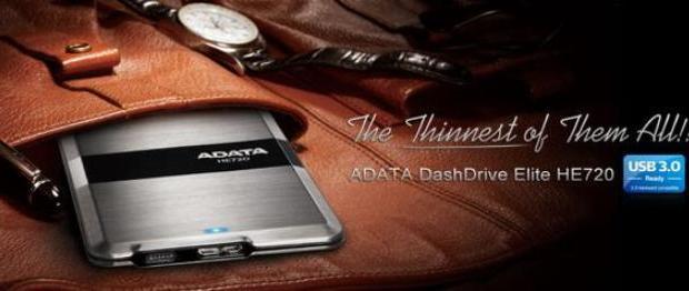 A-DATA DashDrive Elite HE720, compite como el disco duro externo más delgado del mundo
