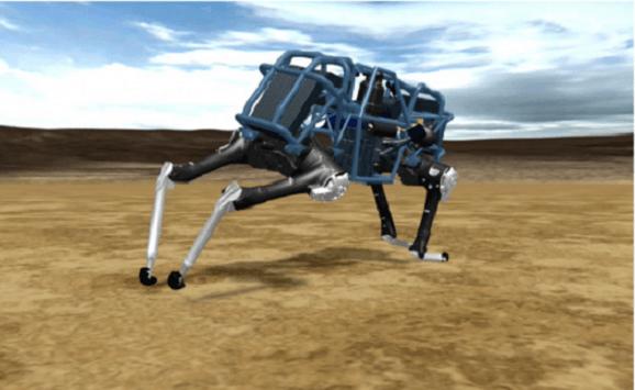 El Robot mecánico más rápido del mundo corre a 45Km/h.
