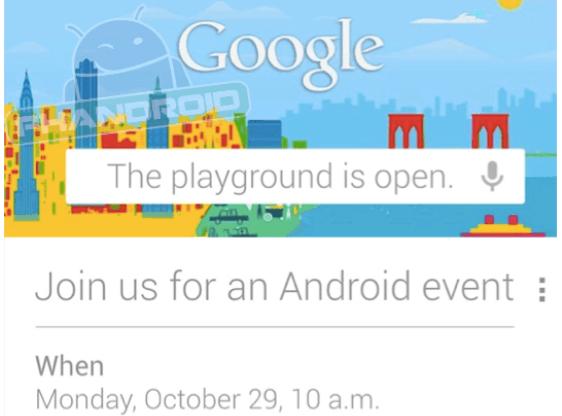 Google cancela su evento Android del 29 de Octubre