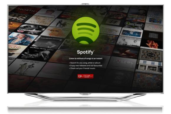 Spotify estará de forma exclusiva en los Smart TVs de Samsung