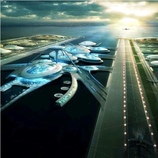 El espectacular y futurista aeropuerto flotante de Londres