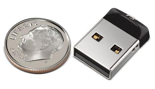 Cruzer Fit USB Flash Drive, el pendrive de 32 GB del tamaño de una moneda