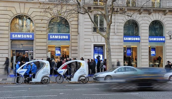 Samsung Mobile Store París, vistas de su primera tienda física en la Ciudad Luz