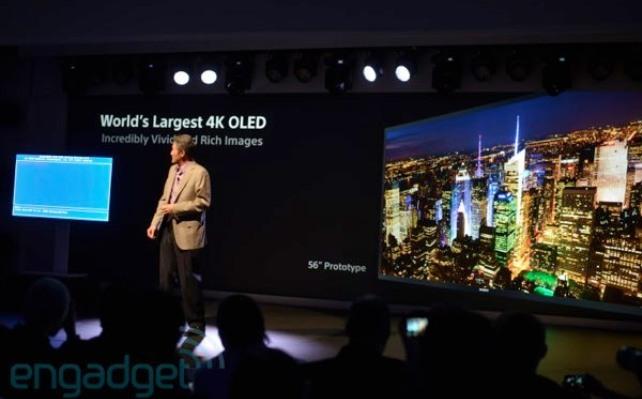 CES 2013: Sony anuncia el primer televisor 4K OLED de 56 pulgadas