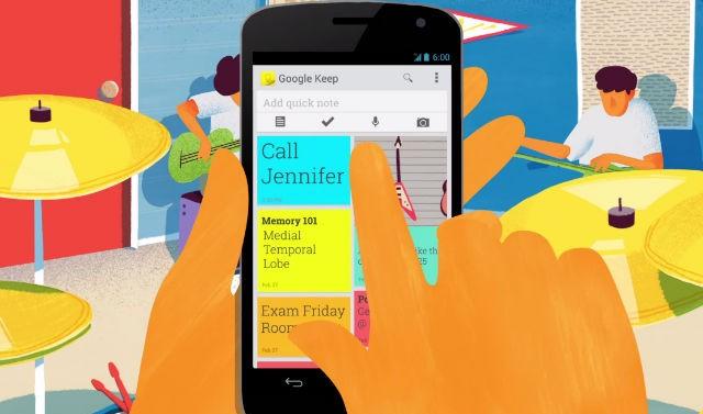 Google anuncia Keep, su servicio para notas rápidas y lectura offline