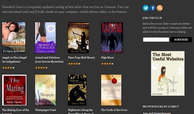 Disponible miles de eBooks gratis de Amazon organizados por tema e idioma