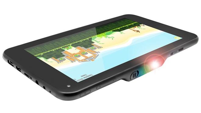 Novedosa tablet con proyector integrado que ofrece imágenes de 100 pulgadas