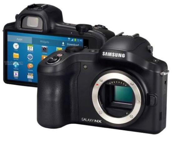 Samsung lanza el Galaxy NX, moderna cámara con android y lentes intercambiables