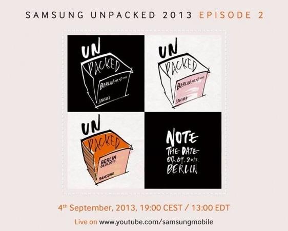 El Samsung Galaxy Note 3 será presentado el próximo 4 de Septiembre