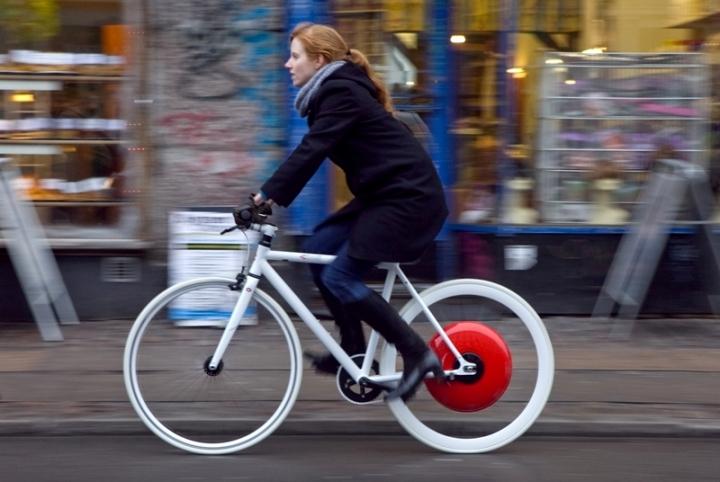 Copenhagen Wheel, dispositivo que transforma una bicicleta común en una e-bike híbrida