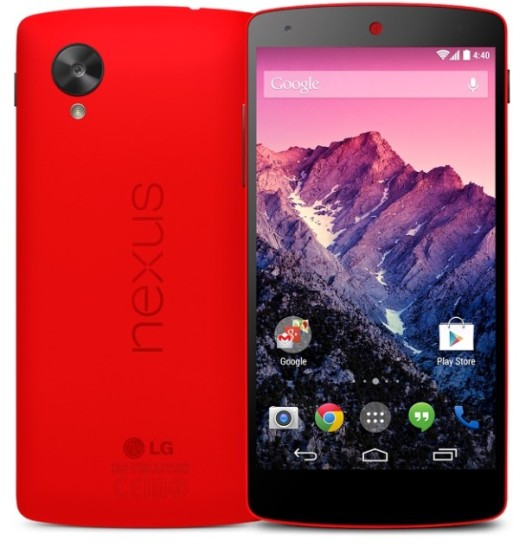 Confirmado: ya está disponible el Nexus 5 en color rojo