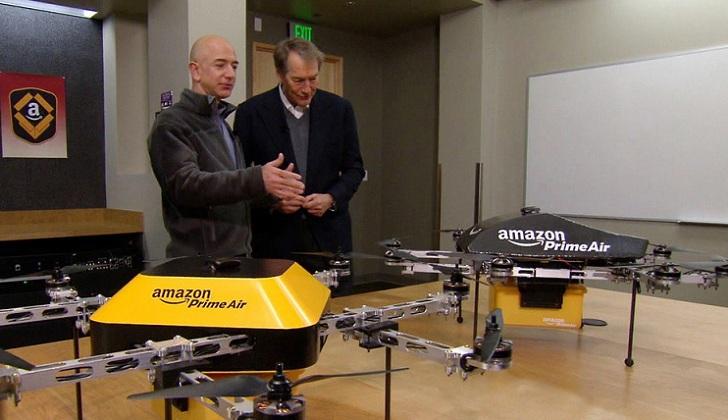 Amazon viene probando el primer grupo de Drones para su futuro servicio de envíos