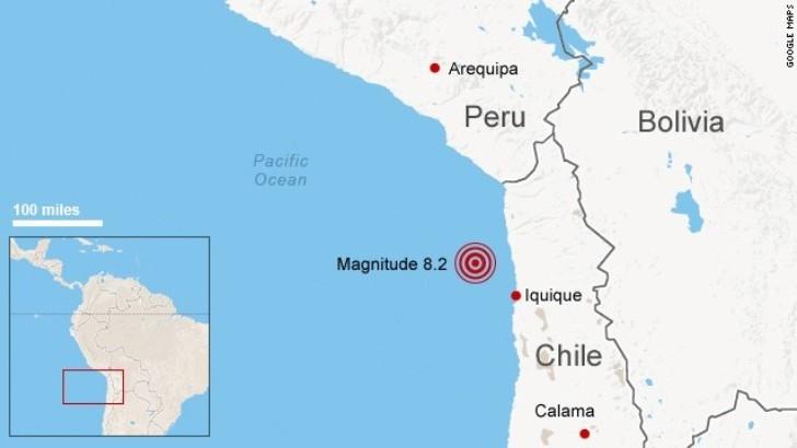 Un fuerte terremoto de 8,3 grados remece el norte de Chile