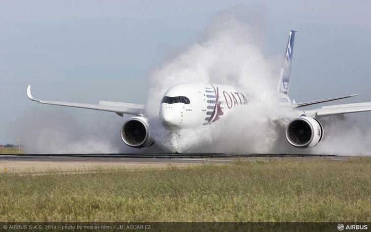 Un moderno Airbus A350 sometido a una exhaustiva prueba