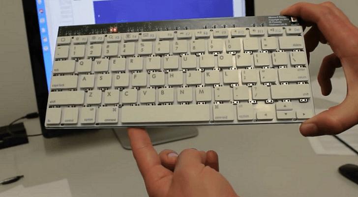 Microsoft desarrolla teclado con control de gestos integrados