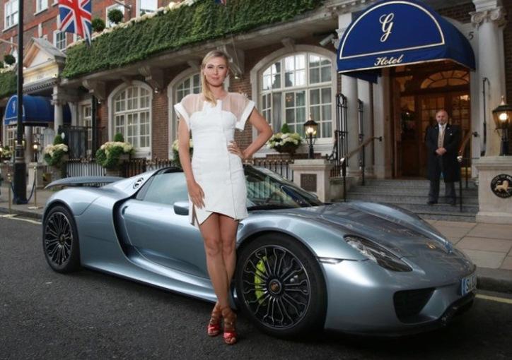 Maria Sharapova Rides Into Wimbledon Party In Porsche 918 Spyder