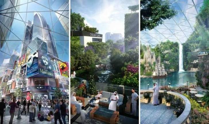Planean construir en Dubai la primera ciudad con clima controlado