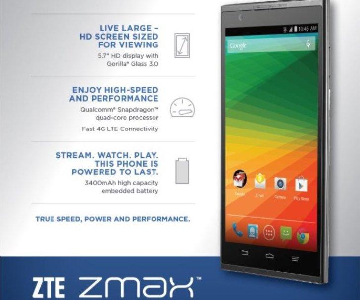 ZTE lanza un económico Smartphone de 5,7″ y una batería de larga duración