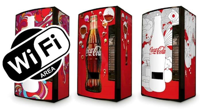 Máquinas expendedoras de Coca Cola serán puntos de acceso WiFi en Sudáfrica