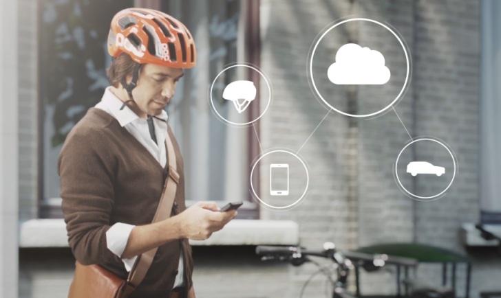 El casco inteligente de Volvo utiliza la nube a fin de proteger a los ciclistas