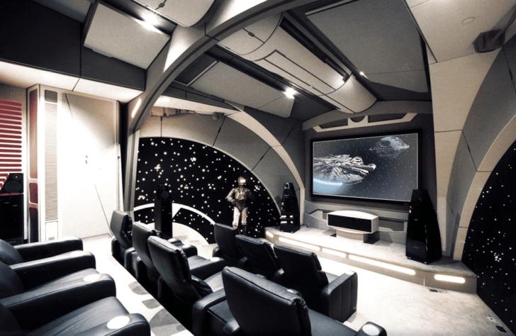 """Un cine en casa al estilo de la película """"Star Wars"""""""