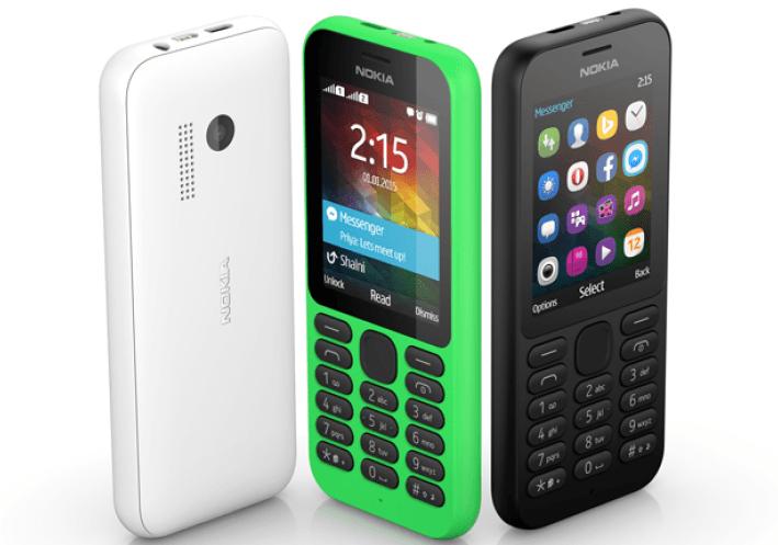 Nokia 215: un teléfono móvil muy sencillo y económico de la firma Microsoft