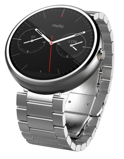 Moto 360, el smartwatch de buen diseño, presenta un modelo en acero