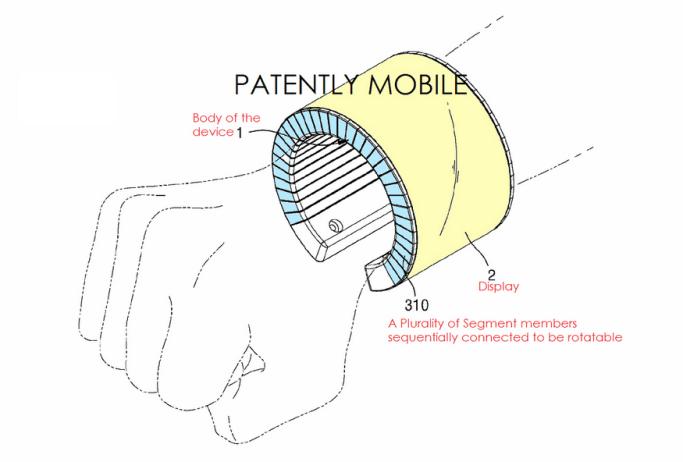 Samsung patenta un smartphone flexible que puede ser usado como un smartwatch