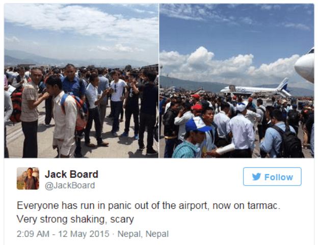 Un nuevo terremoto remece Nepal