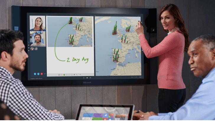 """Microsoft anuncia el lanzamiento de una """"gigante"""" tableta Surface de 85 pulgadas"""
