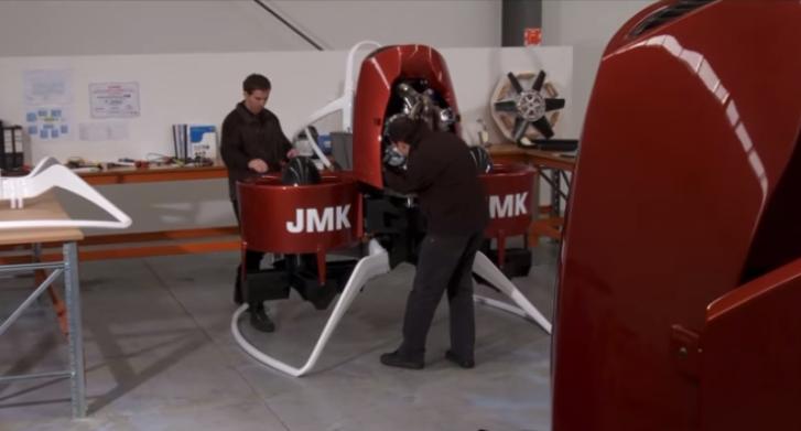 La primera mochila propulsora Martin Jetpack se venderá en el 2016